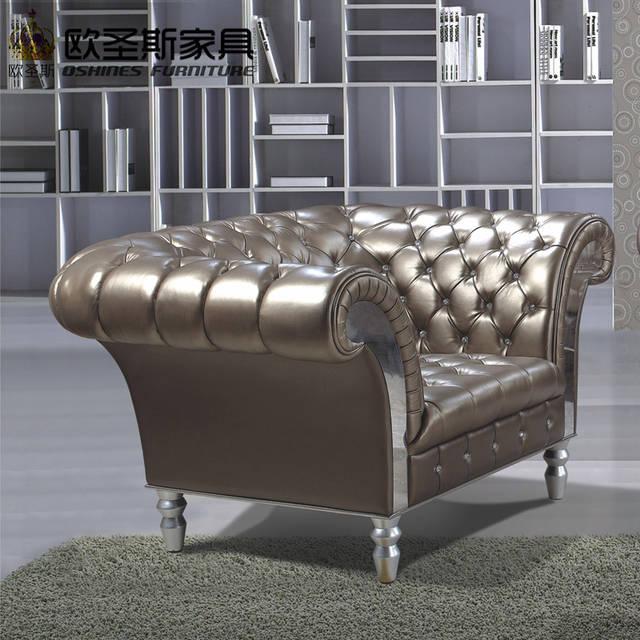 Lorenzo New Clic Five Stars Hotel Villa Leather Sofa Guangzhou Burgundy Luxury