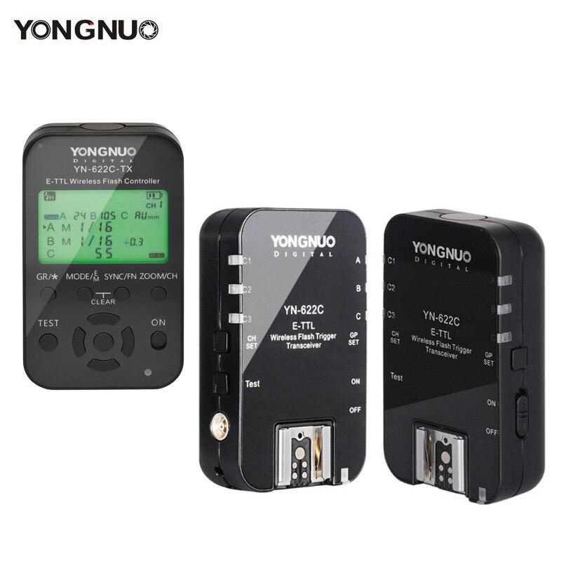 2 pièces Sans Fil Déclencheur Flash Récepteurs Yongnuo YN622C + YN622C TX E TLL Émetteur Récepteur pour Canon Yongnuo YN685 YN600EX RT II-in Déclencheur from Electronique    1