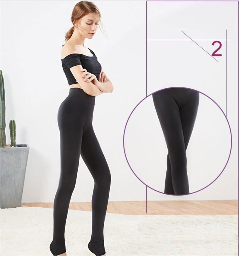 NORMOV Women's Winter Plus Cashmere Leggings Fashion Big Size Warm Super Elastic Faux Velvet Winter Thick Slim Leggings 9