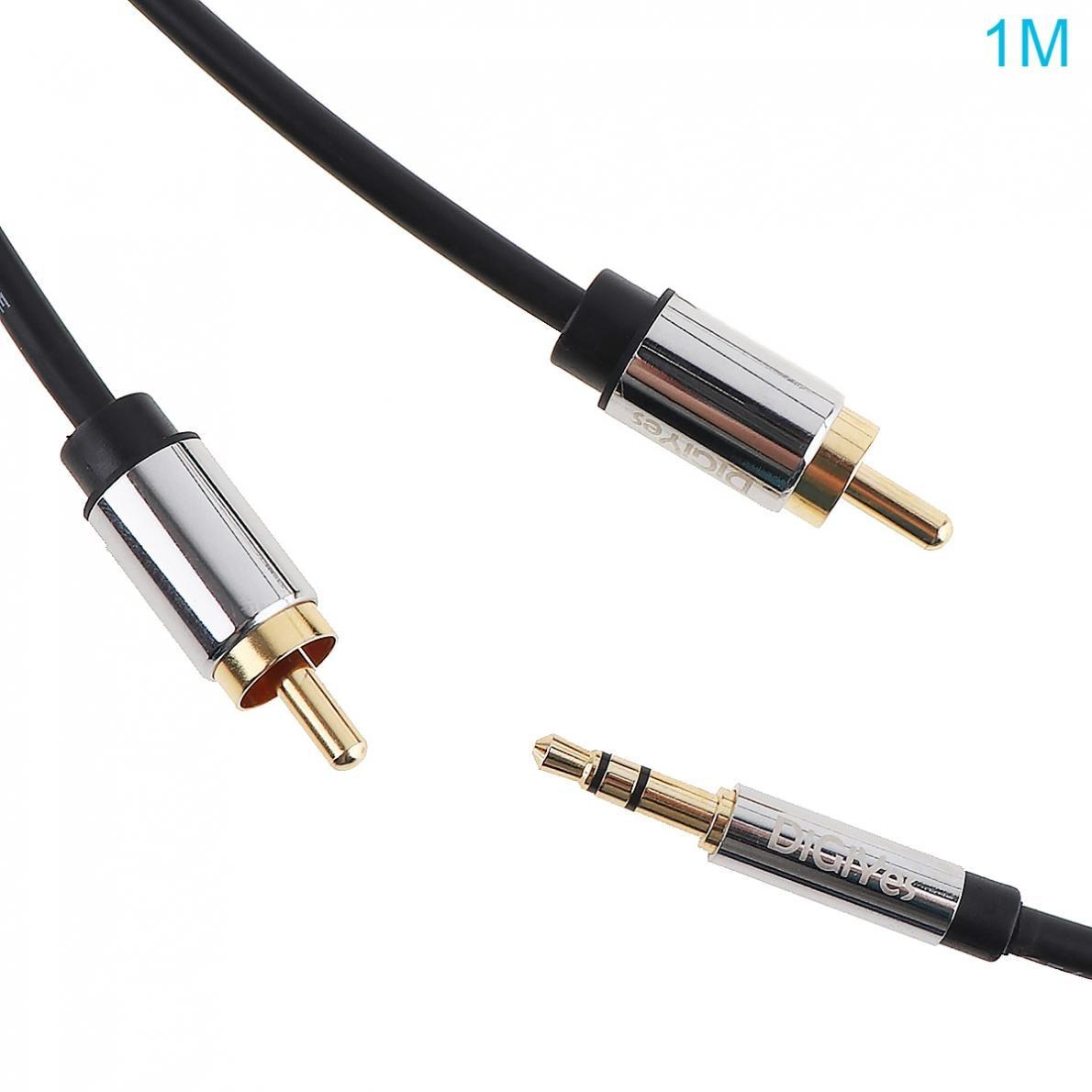 Digiyes Aux Kabel 3,5mm Stecker Auf 2rca Männlichen Stereo Audio Adapter Kabel Gold Überzogen Für Smartphones/mp3/ Tabletten/heimkino Unterhaltungselektronik Zubehör Und Ersatzteile