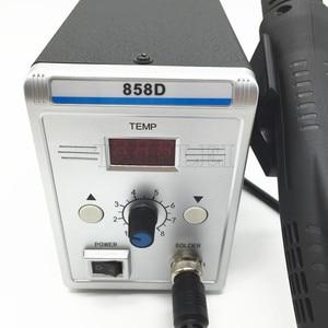 Image 2 - 700W 858D Soldering Station LED Digital desoldering station SMD Rework Solder Station Hot Air Gun + 60W Solder Iron