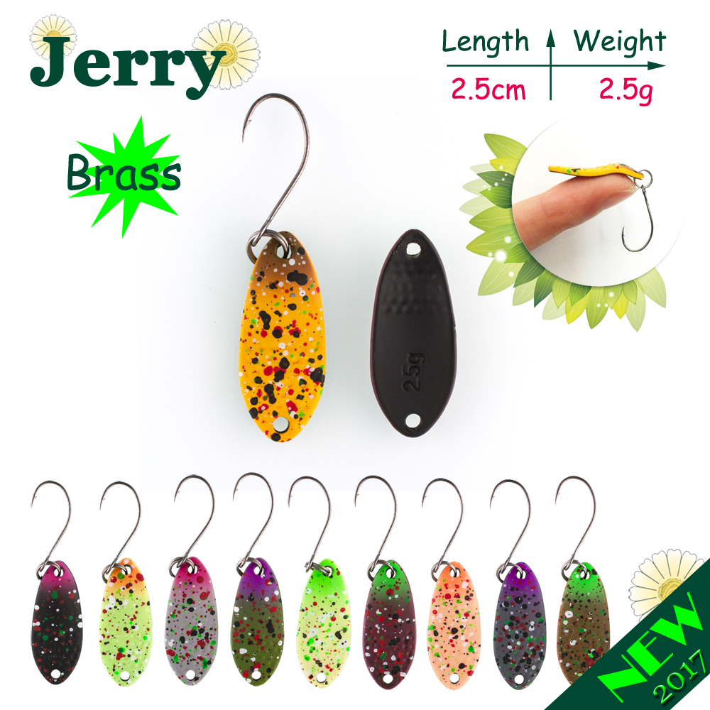 Jerry 1pc 2.5g fishing lures hard bait brass fishing spoons trout lures wobbler spinner bait matt colors jerry 1pc 2 8g fishing blade vibes lipless crankbait ultralight micro lures japan trout lures hard body bait metal vib lure