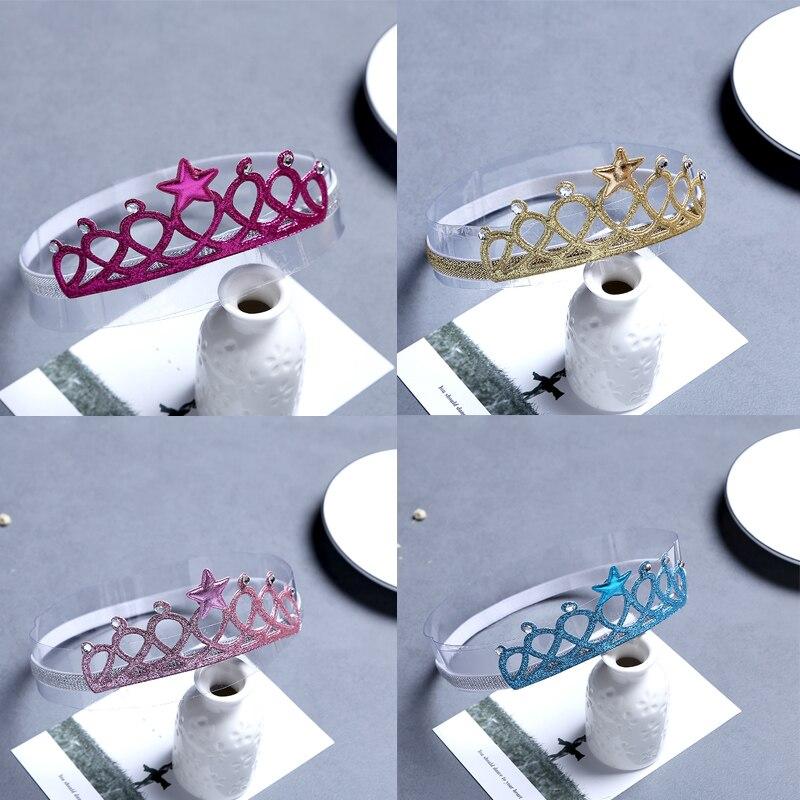 5 Farben Säuglinge Und Kleinkinder Baby Crown Haarband Headwear Hundert Tage Haar Zubehör