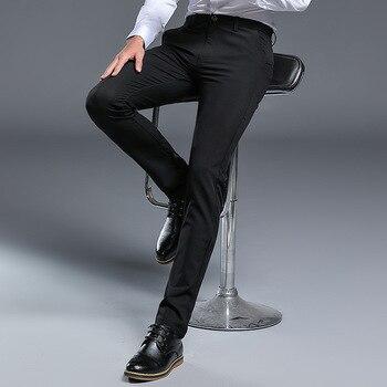 a1bf1ba5e9c Мужские деловые костюмы брюки новые мужские официальные Slim Fit платье брюки  мужские брюки офисные брюки Hombre