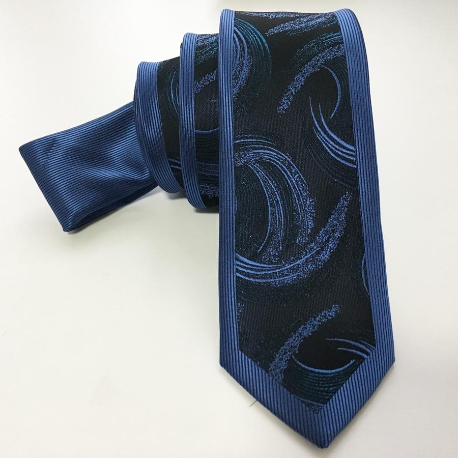 Designer Casual Skinny Tie Haute Qualité Jacquard Woven Neck Ties - Accessoires pour vêtements - Photo 2