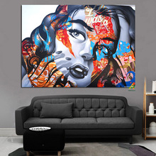 YWDECOR 3D Sexy European Woman Face Pop Art Canvas Painting Digital Prints Wall Art Picture Living Room Sofa Home Decor Poster