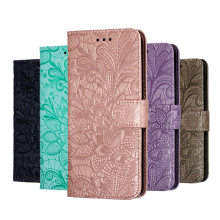 For Huawei Y5 Y6 Y7 Y9 2019 Prime 2018 Case Lace Flower Flip Leather Cases For Honor 8A 8S Cover on Honor 7A Pro 7C Wallet Book(China)