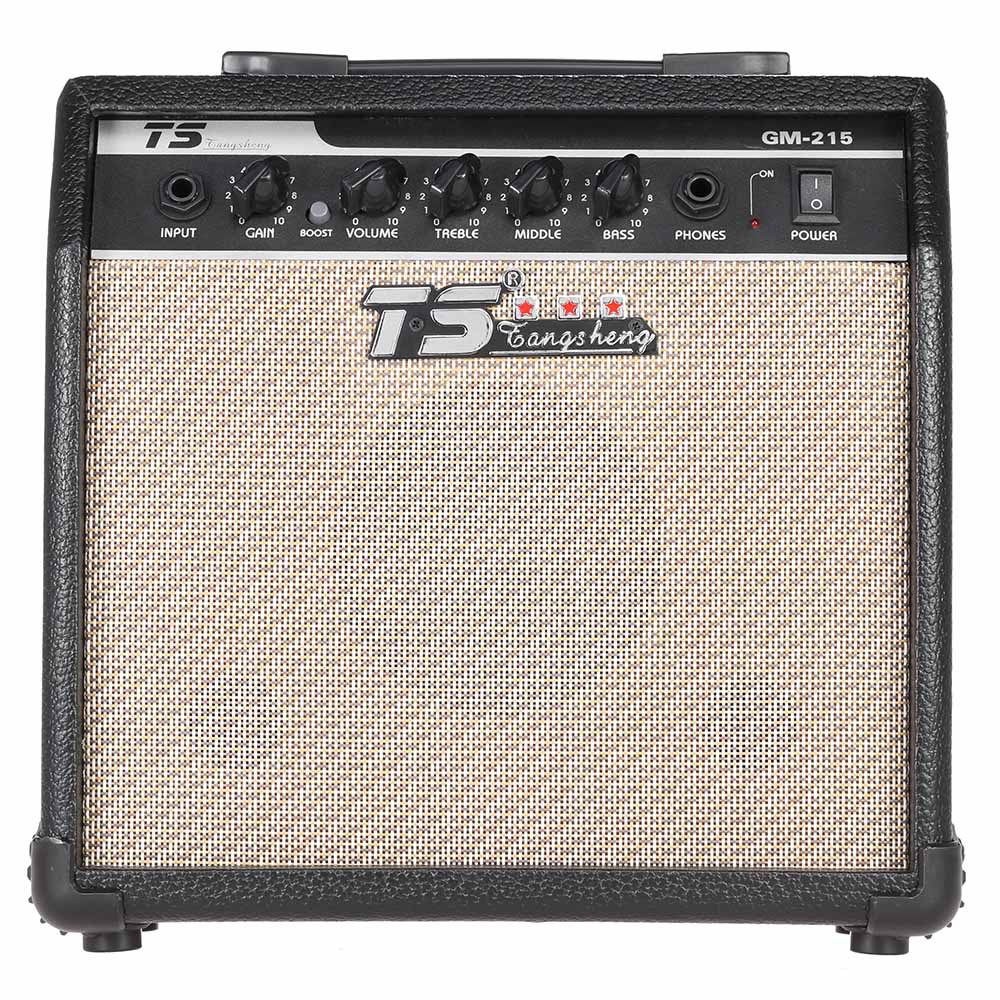 GM-215 Professional 15W Electric Guitar Amplifier Amp Distortion with 3-Band EQ 5 SpeakerGM-215 Professional 15W Electric Guitar Amplifier Amp Distortion with 3-Band EQ 5 Speaker