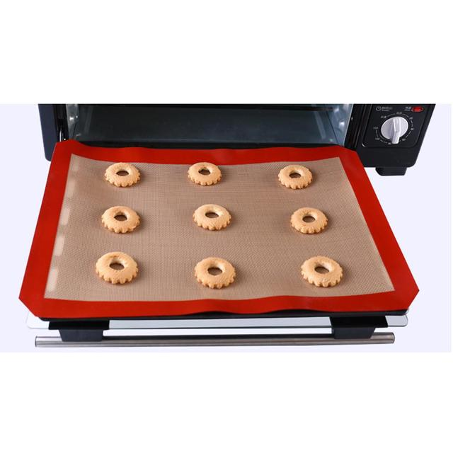 DSstyles 3Pcs Non Stick Silicone Baking Mat Set for Bake Pans Toaster Oven Macaron/Pastry/Bread 1