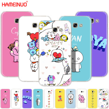 HAMEINUO BTS BT21 Bangtan Boys RJ COOKY cell phone case cover for Samsung Galaxy A3 A310 A5 A510 A7 A8 A9 2016 2017 2018 Сотовый телефон