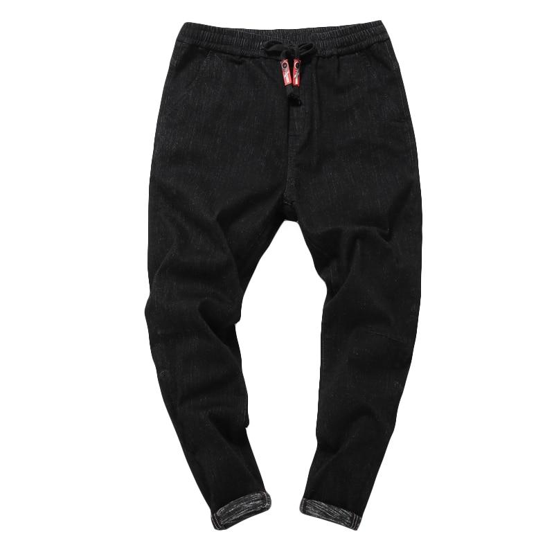 Neue Mode Hohe Qualität Kleine Bein Harem Denim Jeans Hosen Männer Skateboard Hip Hop High Street Casual Cowboy Hosen A6022