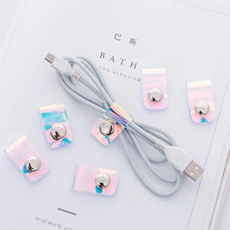 Новое поступление Кабельный органайзер намотка провода протектор шнур управления Маркер кабель провода Органайзер для наушников USB