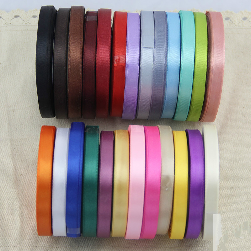 AJP 1 cm bred 22m lang Grosgrain webbånd Ribbon Bryllup dekorative bånd, gavepakke, DIY håndlagde materialer