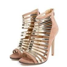 Brand New Desiger Womens Bridesmaid Bridal Wedding Pumps Strappy Open Toe Sandals Women Heels Hollow Thin belt Roman Shoes
