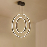 Modern Chandelier Rings Circle Ceiling Mounted LED Chandelier For Living Room Lobby Bedroom Dining Room Chandelier Lighting