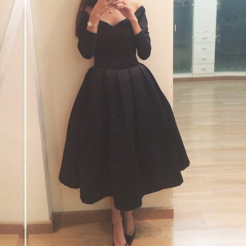 Popular Vintage Black Prom Dress-Buy Cheap Vintage Black Prom ...