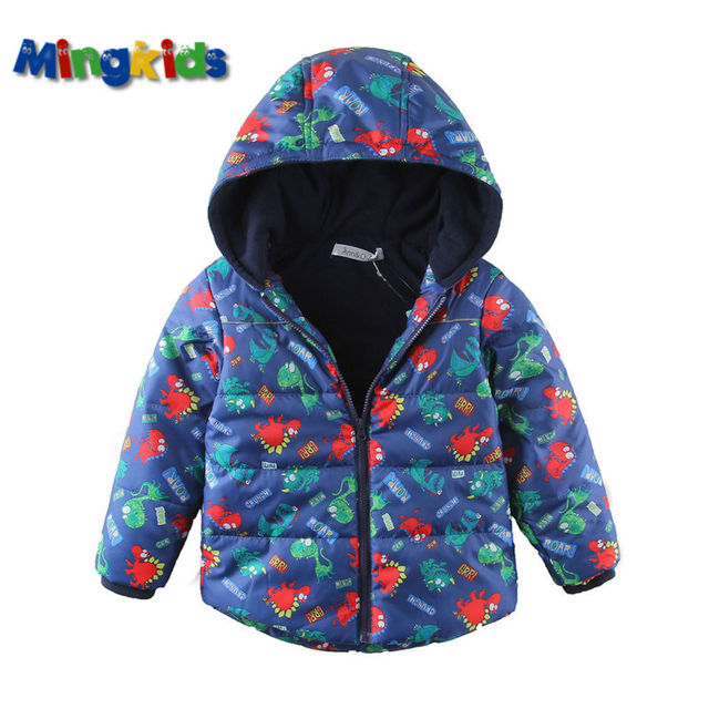 Mingkids High quality spring autumn warm winter jacket for boys waterproof  windproof fleece lining outdoor Dinosaurs 302f8e04a