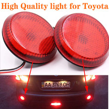 цена на Car LED Tail Rear Bumper Reflector Lights Round Reflective Brake Stop Lamp for Toyota Scion Sienna Corolla Nissan Qashqai Juke
