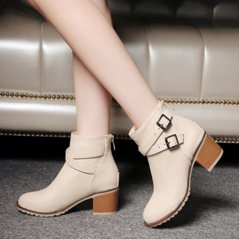 Autumn and winter women vintage Europe star fashion women high heels Ankle boots Snow short boots zipper plus size 34-43 0839W snow boots free delivery of autumn and winter high quality 100