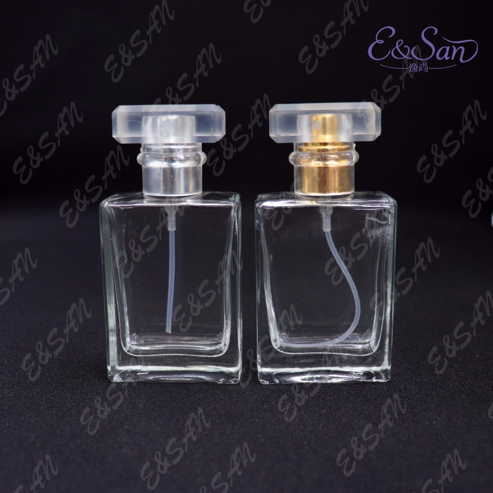 PT149 30ML Quartet Flat Glass Perfume Bottle Spray Dispensing Cosmetic Sprayer Empty Bottle 100PCS LOT