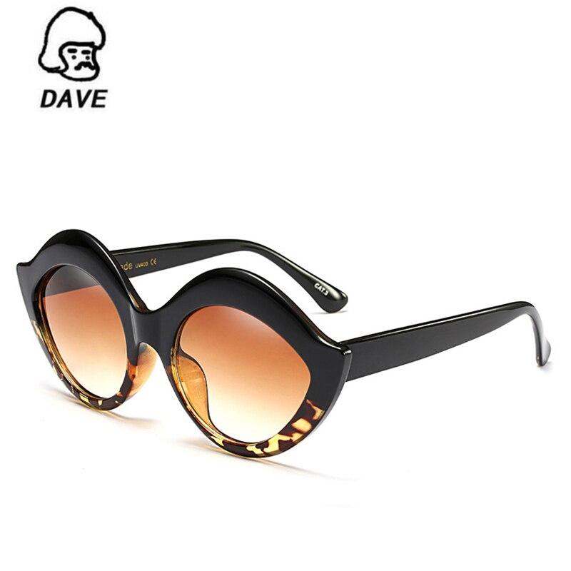 DAVE Fashion Oversized Sunglasses Women Brand Designer Special Kisses Frame Gradient Lens Sun Glasses Retro Female Eyewear UV400