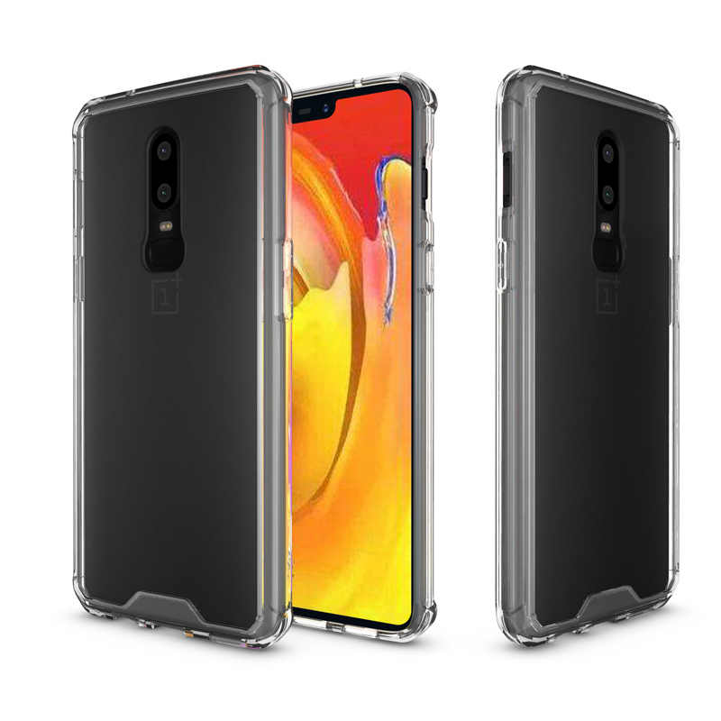 2fe67dab62d CAPSSICUM OnePlus6 Anti-knock Soft Clear case for OnePlus 6 Air Bag TPU  Acrylic Silicone