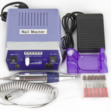 Pro 110V/220V Purple Electric Nail Drill Machine Nail Art Equipment Manicure Pedicure Files Electric Manicure Drill & Accessory