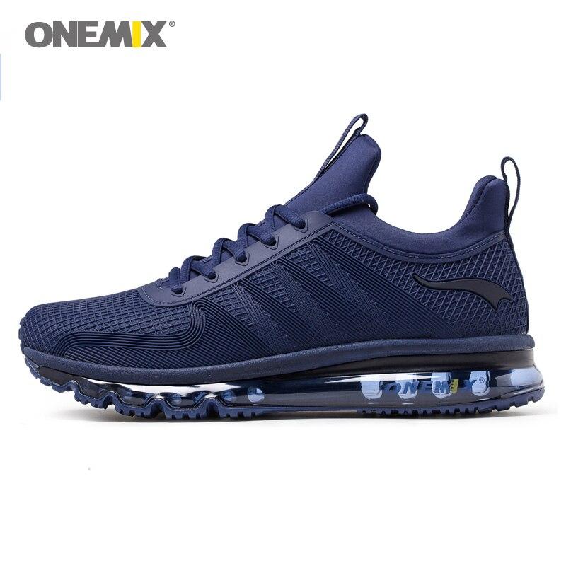 ONEMIX Max Hommes Chaussures de Course Trail Femmes Belle Tendances Athletic Trainers Marine De Tennis Sport Bottes Coussin de Marche En Plein Air Sneakers