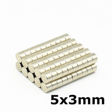150pcs 5x3 Strong Neodymium Magnet Small Round Magnets Use for Fridge Door Whiteboard Magnetic Map Screen Bulletin Boards 5mm