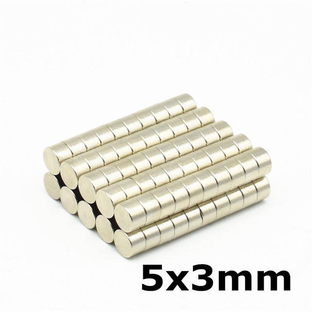 50pcs 5x3 Strong Neodymium Magnet Small Round Magnets Use for Fridge Door Whiteboard Magnetic Map Screen Bulletin Boards 5mm