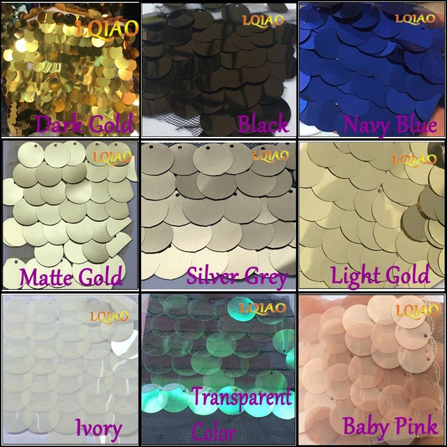 High Quality 18mm Reversible SEQUIN Fabric Material, 2way stretch /125cm wide /Glitter Sequins Pink/Red/Gold/Silver-16 Colors