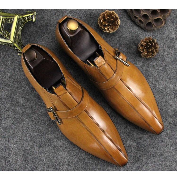 Yellow Black 2018 Pointed Toe Mens Wedding Dress Oxfords Male Fashion Italian Derby Oxfords Shoes Spring Summer Prom Shoes