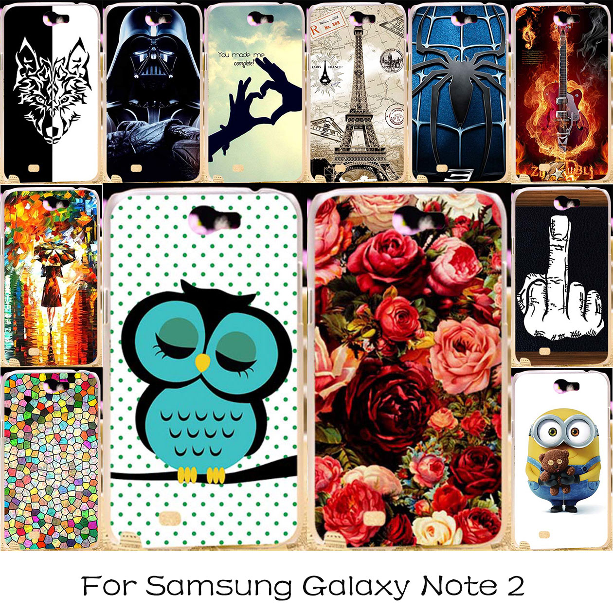 TAOYUNXI Phone Case For Samsung Galaxy Note 2 II N7100 Housing Cover N7105 Note2 7100 NoteII Plastic Bag Shell Skin Cover