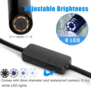 Image 5 - VicTsing 5m 8mm Endoscope Camera WiFi Borescope IP68 Waterproof 8 LED Inspection Camera 1600*1200 HD Camera for iPhone Android