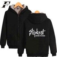 LUCKYFRIDAYF 2017 Slipknot Rock Band Schwermetalle Zipper Hoodies Mit Kappe Männer/Frauen Dicke Warme Kpop Winter Sweatshirt Plus größe