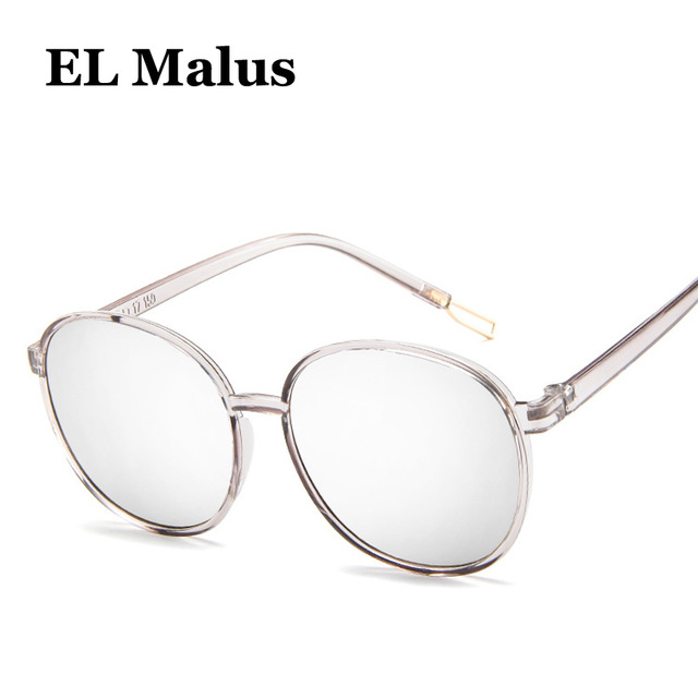 [EL Malus]New Oval Thin Frame Sunglasses Women Mens Reflective Silver Lens Mirror Tan Pink Shades Sexy Ladies Sun Glasses Oculos