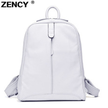 ZENCY Soft Real Natural Cow Leather Women Backpack Genuine Leather BackpacksTop Layer Cowhide Women Backpacks Girl School Bag
