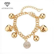 Attractto новый дизайн изящные корейские простые золотые браслеты