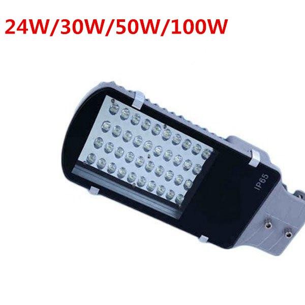 10pcs High Power 24W 30W 50W 100W Led Street Light AC85 265V Waterproof IP65 Streetlight Led Outdoor Lighting Garden Road Lamp