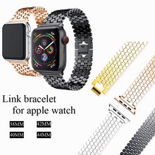 Ремешок из нержавеющей стали для apple watch 6 band 44 мм/40