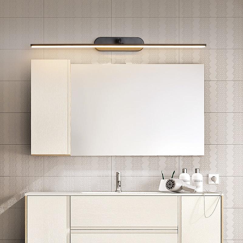 0 4M 1M LED Minimalist Mirror Light Wall Mounted Lamp Adjustment Modern Scone Indoor Lighting Bathroom Aluminum in LED Indoor Wall Lamps from Lights Lighting