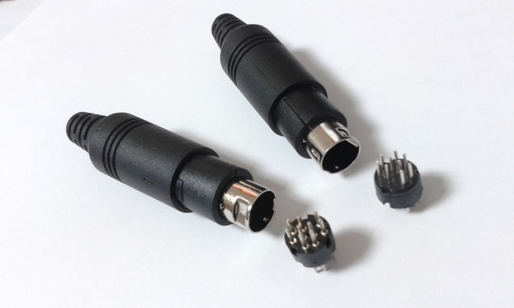 aliexpress buy 1pcs 9 pin mini din connector soldering from reliable connector din