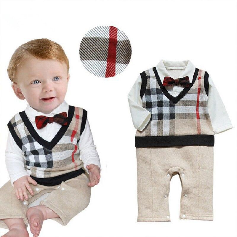 Einzelhandel 2017 100% Baumwollbaby Roupas Infant Kritische Herrn Beugen Langarm-babykleidung