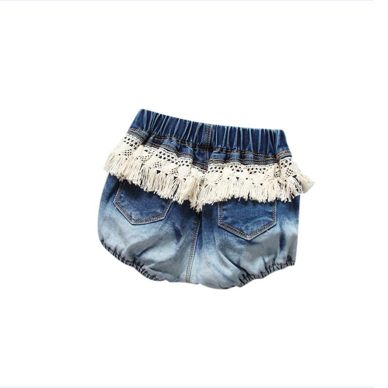 цена Fashion Toddler Kids Girls Tassel Denim Short Pants Shorts Baby Trousers Bottoms Children Clothing