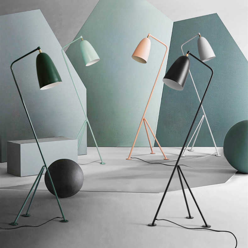 Modern Minimalist Industrial Floor Lamp Standing Lamps for Living room Reading Lighting Loft Iron Triangle Floor Lamp Colorful bedroom floor lights crystal floor lamps wedding decoration sitting room lighting modern floor lamps for living room lamp modern