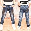 Calças de brim Dos Meninos, primavera e no outono Do menino calças de brim, as crianças usam estilo elegante e alta qualidade crianças calças de brim 17101