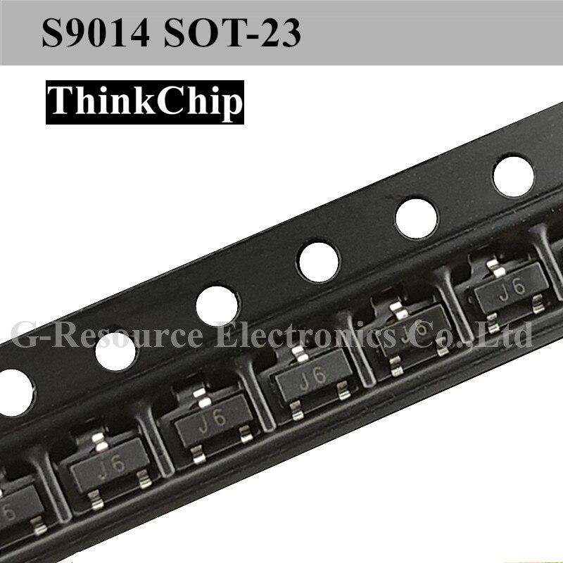 (100 Pcs) S9014 SOT-23 SMD Triode NPN Signal Transistor (Marking J6)