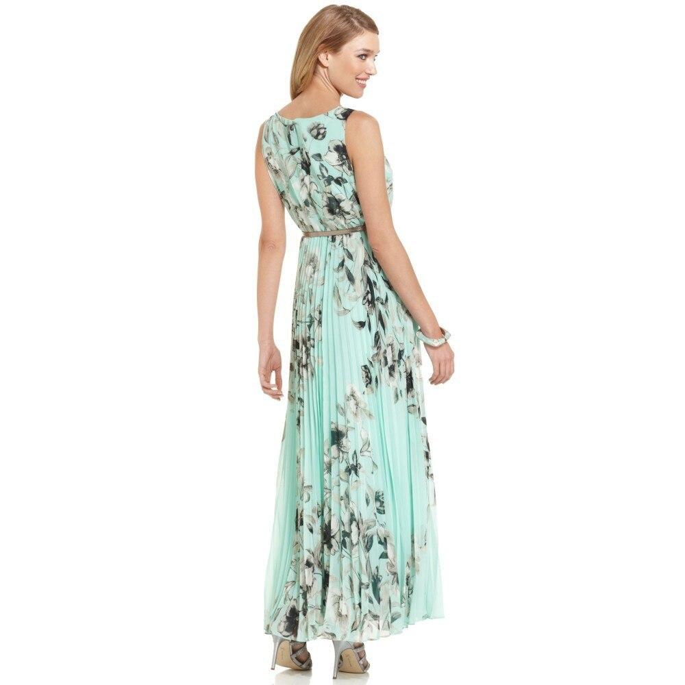Tank O Neck Chiffon Ankle Length Long Dress Elastic Waist Light ... 212a5d6e8f73