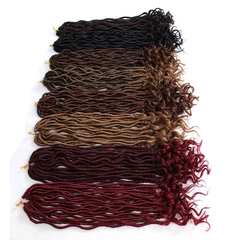 Faux Locs Curly Heat Resistant Synthetic Hair Extensions (131)