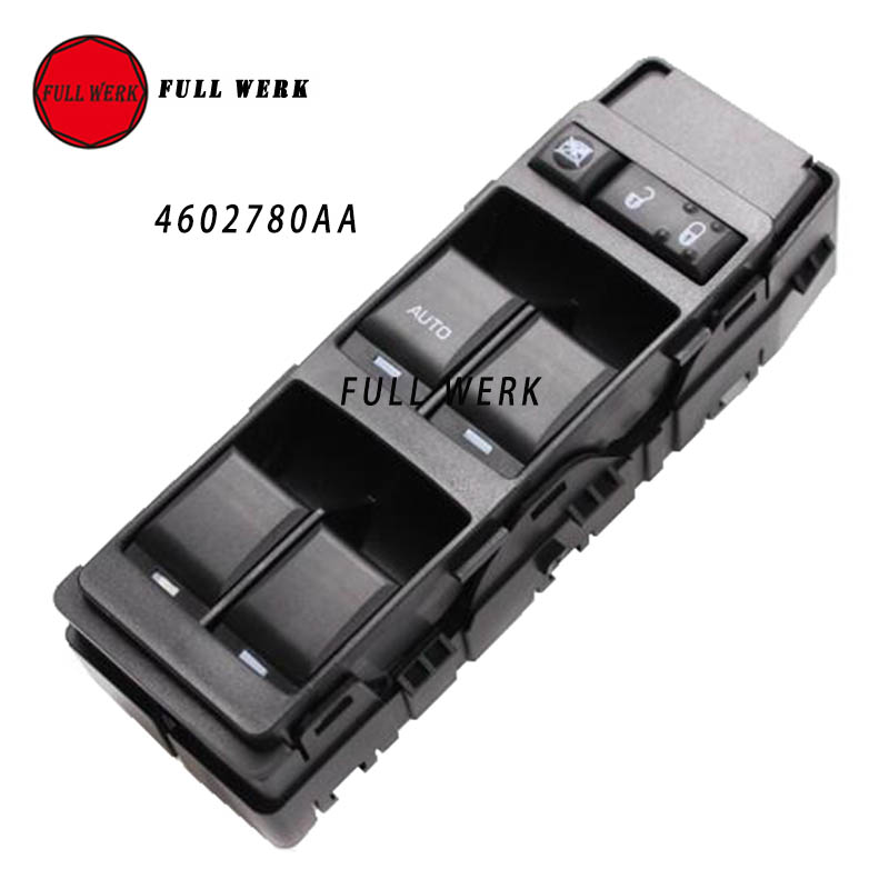 Front Left Power Window Master Switch 4602780AB 4602780AA for 2007 2016 Chrysler Jeep Dodge